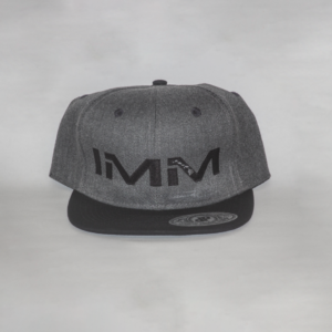 Dark Grey + Black Intense Motorsports Maui Flex-fit Cap
