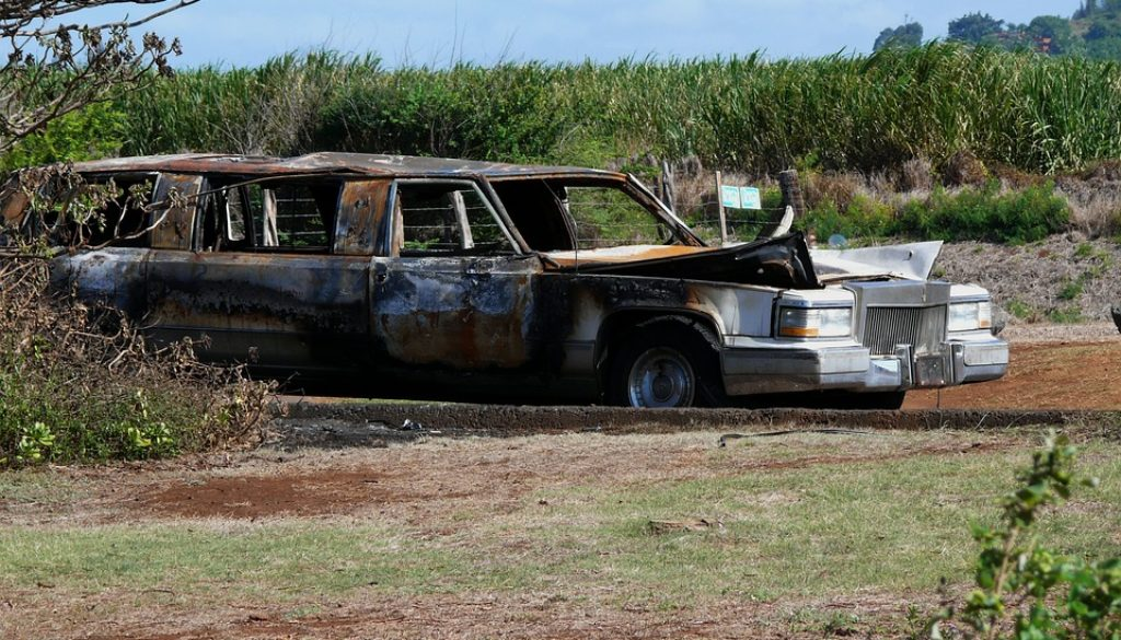 Burnt Abandoned Car on Maui