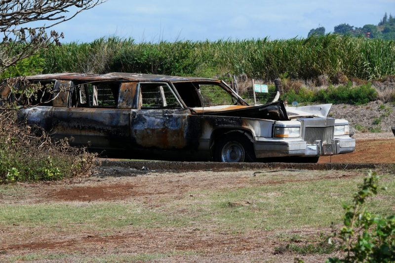 Burnt Abandoned Car on Maui