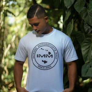 White Hawaii Emblem Intense Motorsports Maui Shirt