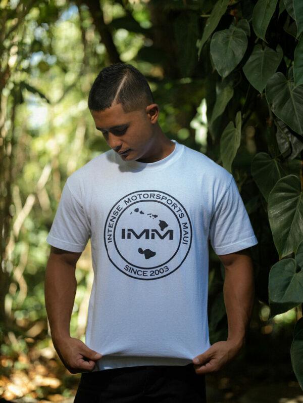 White Hawaii Emblem Intense Motorsports Maui Shirt
